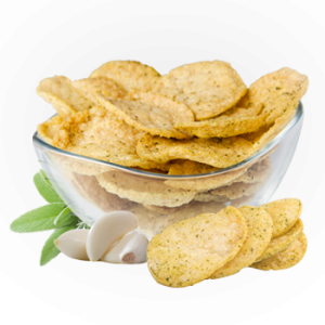 Garlic and Fine Herbs Soy Crisps